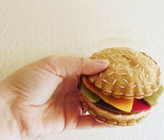 Ridiculously cute felt cheeseburger,  Fia's Cheeseburger by PDXr Buttonlandia