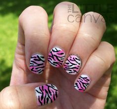 The Little Canvas:  Zebra #nail #nails #nailart