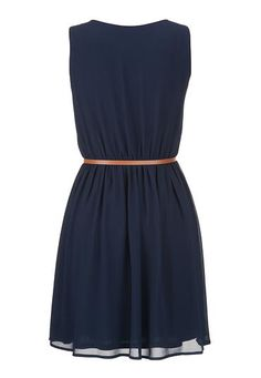 belted chiffon dress - maurices.com