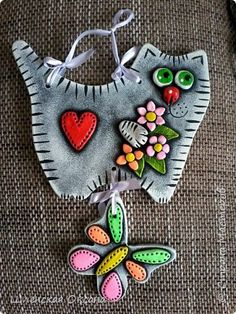 Diy Clay, Clay Crafts, Felt Crafts, Diy And Crafts, Crafts For Kids, Polymer Clay Art, Polymer Clay Jewelry, Clay Jar, Clay Ornaments