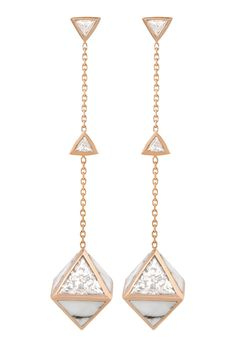 TUWAIQ Collection - LOSANGE HOWLITE earrings - 6 diamonds (2,39 cts) - howlite…