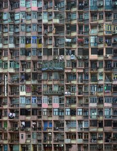 Michael Wolf's 'Architecture of Density', in which he examines the size and patterns of Hong Kong's massive skyscrapers : Flowers Gallery London