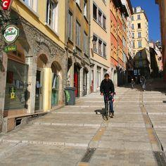Lyon, France. Le Quartier de la Croix-Rousse.