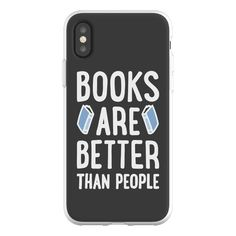 "Flexi Phone case Books will never exhaust you and lower your energy levels the way that people do. Celebrate books and your introvert pride with this ""Books Are Better Than People"" reading design! Perfect for a reader, book lover, bibliophile, bookworm, introverts, and gifts for readers!"