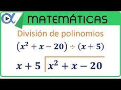Division entre polinomios | DTDO❤ | Pinterest | Polinomios, La ...