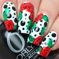 Luster Lacquer: Roses and Dots Cakespiration