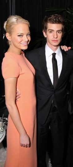 Spiderman's Sweethearts: A Look Back at Emma Stone and Andrew Garfield's Adorably Chic Couple Style: Back in January 2011 at the 68th Annual Golden Globes Awards Party hosted by Sony Pictures.