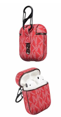 MICHAEL KORS Apple Airpods case Red 2 1 Luxury Holster 10196 Fone Apple, Apple Airpods 2, Aesthetic Phone Case, Airpod Case, Iphone Accessories, Apple Products, Handbags Michael Kors, Birthday Wishes, Watch Bands