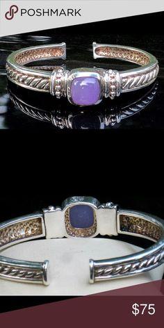 726c39b16d6 Judith Ripka Vintage lavender jade bracelet JUDITH RIPKA!!! VINTAGE PIECE  LAVENDER JADE STONE
