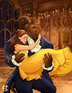Belle and Her Beast (live action) by Sketchderps.deviantart.com on @DeviantArt