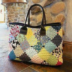 Logcabin Patchwork Big Bag  #퀼트앤돌디자인  #애나스튜디오 #가방디자인 #애나백 #애나삭 #애나돌 #작품판매 #퀼트패키지  #퀼트워크샵  #퀼트클래스  #퀼 - anna_studios