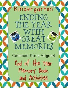 The end of each school year is so exciting! It's a time to reflect upon the school year and enjoy the last few days of it. This packet is 33 pages long and is sure to fill your last days with fun and joy! It includes the following: - Memory Book that is 8 pages long and includes an autograph page - 2 templates for writing a letter to kids in Pre-K (both primary paper for young authors and lined paper for advanced authors) - 2 templates for writing a letter to your 1st grade teacher - both…