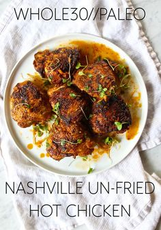 "Whole30 + Paleo Approved Nashville ""un-fried"" Hot Chicken!!"