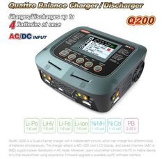 SKYRC Q200 1 in 4 intelligent charger/Discharger for Lipo/LiHV/Lithium-iron/Lithium Ion/NiMH/NiCD/Lead-acid battery