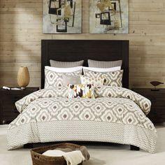 INK IVY Ankara Neutral Comforter 3 Piece Set