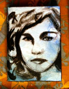 sky portrait etheral haunting hope woman by PaintedValentineArt, $20.00