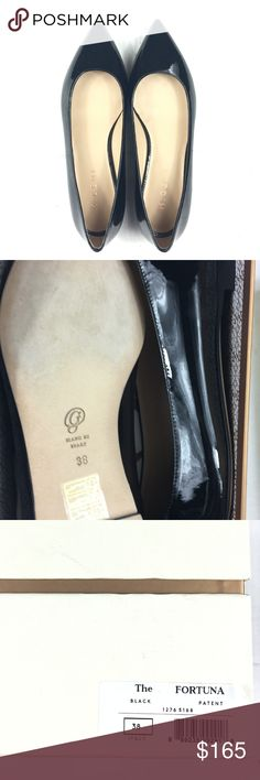M. Gemi Fortuna Flats Black Patent Leather (7.5) Size: 38 (7.5) Color: Black Patent Leather  Condition: New with original box with dust bag.   Purchased from a sample sale in NYC. Shoes are brand new but may have slight wear on soles from in-store try ons. Box may also have wear from handiling. M. Gemi Shoes Flats & Loafers