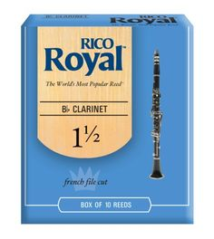 """Rico: Box of 10 """"Royal"""" Clarinet Reeds - 1½. £19.99. Other strengths also available."""