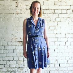 Sew Over It ;Vintage Shirt Dress' in denim. Sew Over It Patterns, Sewing Patterns, Simple Dresses, Summer Wardrobe, Chambray, Wrap Dress, Shirt Dress, Couture, Denim