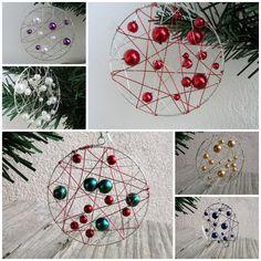 Vánoční dekorace na stromeček Netradiční ručně vyrobené ozdoby z perliček a drátků. Rozné barvy dle Vašeho přání. Cena za 1 kus. Průměr: 6 cm