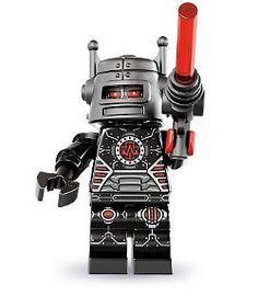 Evil Robot Lego Minifigure from series 8 Lego Ninjago Minifiguren, Lego Minifigs, Robot Series, Lego Boards, Lego People, Lego Toys, Lego Disney, Custom Lego, Lego Brick