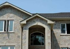 Vivace, Siena Stone Residential Application Front Elevation, House Front, Siena, Ranch, Brick, New Homes, Exterior, Mansions, House Styles