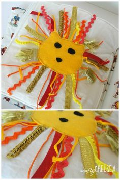 lion ribbon quiet book page