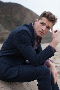 patterned suit   Hairstyle
