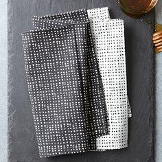 Dotted Grid Napkin Set | West Elm