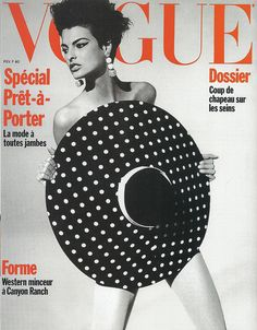 vogue cover 1990: cat-eye on a mission....For beautiful wedding dresses visit emmahunt.co.uk