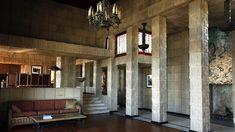 Charles Ennis House. FLW. Los Feliz neighborhood of Los Angeles, CA., south of Griffith Park. 1924.