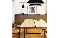 La simpleza del buen diseño. Así resumimos esta imagen en la que se complementan distintos estilos para lograr una estética singular.  /Pinterest.com