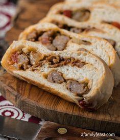 Sausage-Bread Recipe - RecipeChart.com #Appetizer