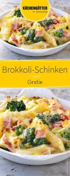 Rezept für Brokkoli-Schinken-Gratin, auch ein tolles Gericht für Kinder Jarlsberg, Broccoli Recipes, Pasta Recipes, Cooking Recipes, Broccoli Gratin, Best Snacks, Healthy Snacks, Food Design, Diy Food