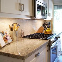 Spaces Granite Counters Subway Tile Backsplash Design, Pictures, Remodel, Decor and Ideas - page 7