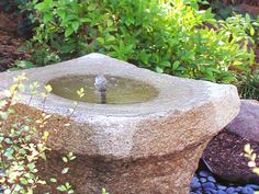 A fountain brings the calming sound of running water to this meditation garden. Design by Patricia Wagner