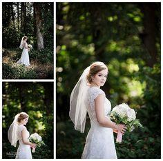 Must-Have wedding photos of bride. Bridal Posing. Posing for Bridal portraits. Outdoor wedding photos. Rustic wedding posing. Kelsea Joann Photography.