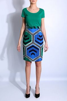 graphic pencil skirt