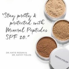 Here's to foundation-free selfies in 2017. What if you could replace your foundation, cover up and bronzer with something that will help you acheive the same look and is actually good for the health of your skin? Sweep on Rodan + Fields Mineral Peptides to help tone down visible redness and add a layer of SPF. Three shades are available: Light, Medium, and Bronze! They are perfect for highlighting and contouring too!