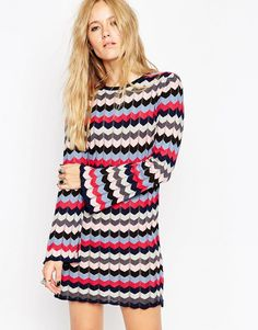 I'm really digging chevrons this season! This tunic with bell sleeves is ticking SO many boxes right now.