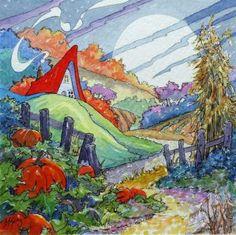 Road toward an autumn moon - Alida Akers (100 pieces)