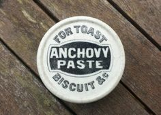 Small Victorian Anchovy Paste potlid c1890's