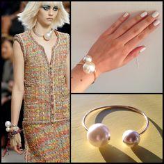 Chanel-inspired bracelet. Love it.