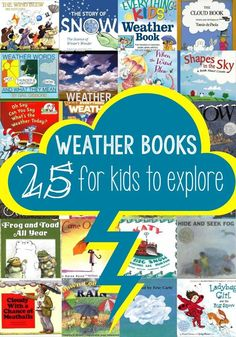 25 weather books for kids to explore! Lots of fun stories about the weather and some great non-fiction books that are just perfect for the preschool and kindergarten age group! #FictionBooks