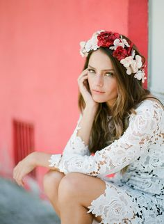 The flower crown wedding trend is still going strong. Pair one with your dress on your big day for boho bride vibes.