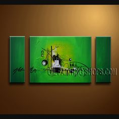 Enchant Modern Abstract Painting Hand-Painted Art Paintings For Living Room Abstract. This 3 panels canvas wall art is hand painted by Bo Yi Art Studio, instock - $154. To see more, visit OilPaintingShops.com