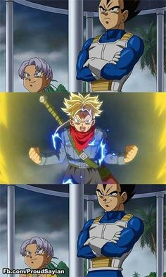 When you made your father proud Vegeta And Trunks, Vegeta And Bulma, Ssj3, Anime Fight, Manga Anime Girl, Nerd Love, Dragon Ball Gt, Awesome Anime, Wolverine