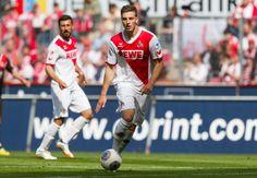 Dominic Maroh und Kevin Wimmer bei einem Bundesligaspiel des 1. FC Köln zu sehen. Das Abwehr-Duo ergänzt sich in der Verteidigung perfekt.