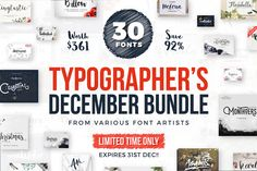 Typographer's December Dream Bundle - Script - 1