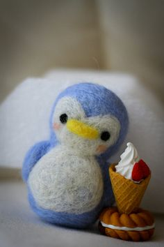 Cute needle felted penguin!